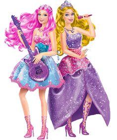 Imprimibles, imágenes y fondos Barbie Princesa y Pop Star 7.