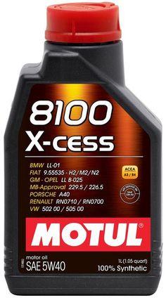 Motul 8100 Xcess 5w-40 1L Motor Oil - 102784