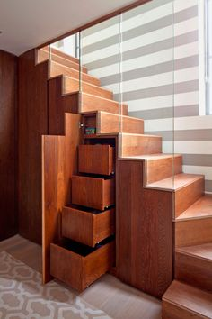 Under Stair Storage Design in a Water Tower Transformation by Leigh Osborne & Graham Voce, Photo: Will Pryce for The New York Times