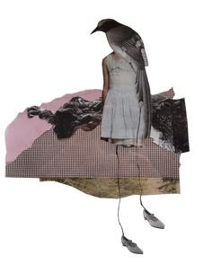 "Rhed Fawell ""Bird Girl"" Collage"