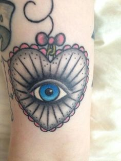 Heart with eye, my 3rd tattoo i have done
