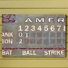 Kids Vintage Football Scoreboard Wall Art
