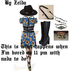 """This is my first publish on polyvore (on college account). """"Um....ok then past Zelda"""" by zelda-kahtan on Polyvore featuring Boohoo, Topshop, Coven, Zana Bayne and Forever 21"""
