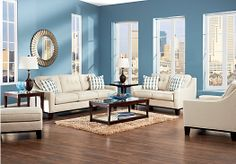Shop for a Cindy Crawford Home  Hadly Lagoon  7 Pc Living Room at Rooms To Go. Find Living Room Sets that will look great in your home and complement the rest of your furniture.