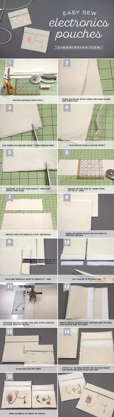 Electronics Pouches Tutorial from MichaelsMakers Lia Griffith