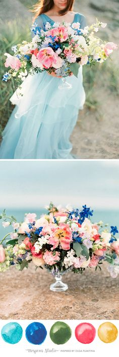 One of THE most beautiful Wedding Color Palettes I have ever seen! - www.mospensstudio.com