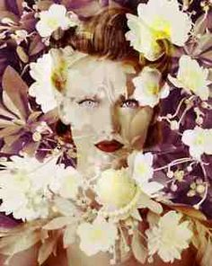 Valerie Belin, woman in flower
