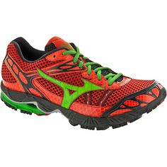 Mizuno Wave Ascend 7 Men Orange Green Gray   Trail Running Shoes - Men s 7c9d26ef97030