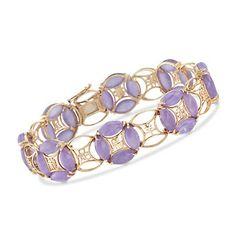 1980 Vintage Marquise Lavender Jade Bracelet in Yellow Gold. Jade Jewelry, Gems Jewelry, Ethnic Jewelry, Stone Jewelry, Gold Jewellery, Jade Bracelet, Bangle Bracelets, Pomellato, Lorraine
