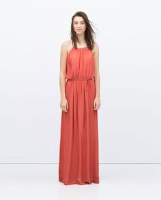 LONG STRAPPY DRESS-Dresses-Woman-COLLECTION AW15   ZARA United States