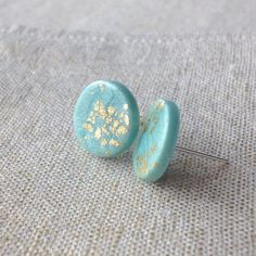 Hey, I found this really awesome Etsy listing at https://www.etsy.com/listing/270334616/modern-studs-mint-polymer-clay-studs