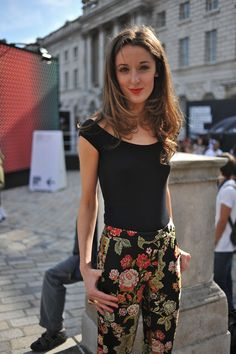 Digital Marketing Executive at British Fashion Council, Rosanna Falconer, at London Fashion Week