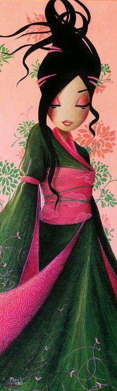 Kai Fine Art is an art website, shows painting and illustration works all over the world. Art Geisha, Illustrations, Illustration Art, Anime Quotes Tumblr, Anime Body, Anime Pokemon, Anime Plus, Art Et Design, Chinese Art
