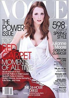 MARCH 2003 VOGUE MAGAZINE - JULIANNE MOORE - BEAUTIFUL COVER