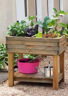 carr potager pour herbes aromatiques castorama mon petit jardin pinterest cr atif tables. Black Bedroom Furniture Sets. Home Design Ideas
