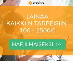 Credigo on tullut tutuksi Suomen rahoitusmarkkinoilla vuonna 2015. Credigo myöntää 100 - 2500 lainoja 6-60 kuukauden maksuajalla. Lainat ovat todella kilpailukykyisiä. Jopa niinkin alhainen kuin 3,42% kuukausikorko on mahdollinen. #credigo #edullinen_laina #nopeelaina