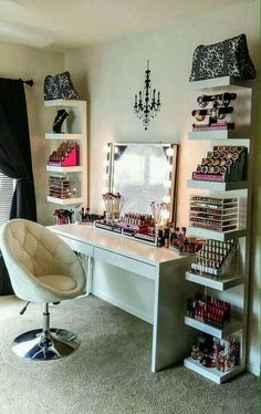 Definitely My dream bedroom/Makeup room. :)