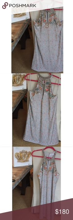 Parker beaded shift Sansa Beaded Keyhole Dress In great condition. Only worn once Parker Dresses Mini