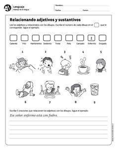 Relacionando adjetivos y sustantivos