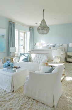 elegant aqua bedroom                                                       …