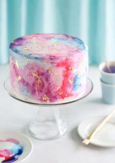 Wasserfarben-Torte