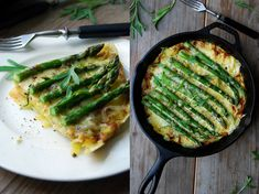 Asparagus Tortilla with Grilled Mountain Cheese and Tarragon : eat in my kitchen