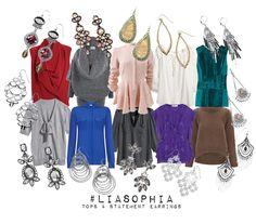 Statement Earrings paired with tops - lia sophia - fall/winter '14 www.liasophia.ca/amandapiche