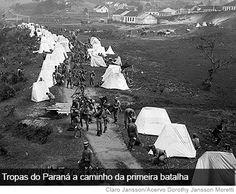 Guerra do Contestado: forças legais acampadas às margens do Iguaçu em Porto União da Vitória (PR).