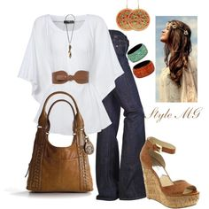 Boho Summer, created by romigr99 on Polyvore (no wedge, needs a lower heeled shoe)