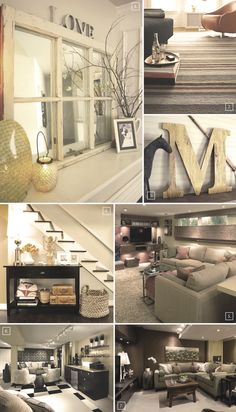 Decorating ideas for the basement..
