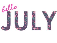 Hello July | transparent hello july animated Sticker