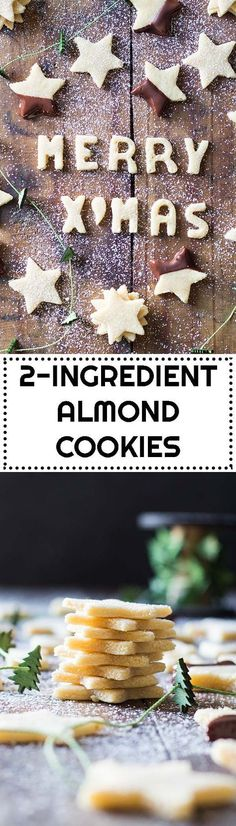 These are the most amazing melt-in-yout-mouth 2 Ingredient Almond Cookies you will try in your life! via @greenhealthycoo
