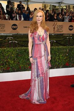 Actress Nicole Kidman attends the 22nd Annual Screen Actors Guild Awards at The Shrine Auditorium on January 30, 2016 in Los Angeles, California. AFP PHOTO / MARK RALSTON / AFP / MARK RALSTON        (Photo credit should read MARK RALSTON/AFP/Getty Images) via @AOL_Lifestyle Read more: http://www.aol.com/article/2016/07/18/nicole-kidman-shanghai-dress/21434282/?a_dgi=aolshare_pinterest#fullscreen