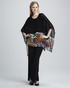 Jazzy Jungle Poncho, Women\'s by Caroline Rose at Neiman Marcus.