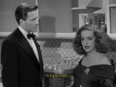 All About Eve Classic Movie Quotes, Classic Movies, Classic Hollywood, Old Hollywood, All About Eve, Bette Davis, Movie Talk, Hate Men, Cinema Movies