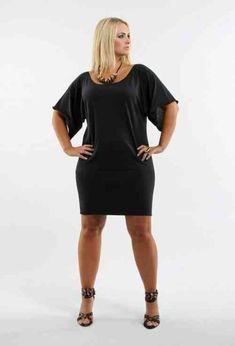 robe moderne en noir pour femme ronde