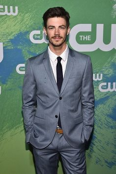 Grant Gustin attends the CW Network's 2016 New York Upfront Presentation at The London Hotel on May 19, 2016 in New York City