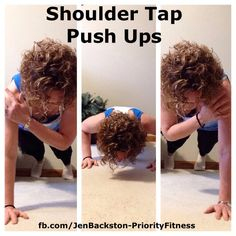Mix it up a little with Shoulder Tap Push Ups...great for your shoulders and core. Click through for directions!