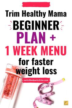 Check out this easy, delicious Trim Healthy Mama beginner plan and 1 week menu. There's no special ingredients (NSI) in this easy 1 week THM meal plan, and it's awesome for speedy weight loss (or stubborn weight loss) and following the Trim Healthy Mama diet. You'll get used to the Trim Healthy Mama plan and love how good you feel losing weight with this easy THM meal plan! #trimhealthymama #thm #weightlossplans Trim Healthy Recipes, Thm Recipes, Healthy Dinners, Trim Healthy Mama Book, 21 Day Fix Menu, Low Carb Taco Seasoning, Fast Weight Loss, Losing Weight, Meal Prep Plans