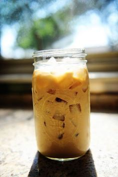 LOVE this recipe! Its called the Perfect Iced Coffee and Im enjoying a glass right now (made a batch last night, finished this morning)- its really smooth and takes Zero time! Try it! (Oh, and visit Rees website= The Pioneer Woman= its wonderful :)