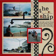 Cruise Scrapbook Layouts | ... Tweet: The Honeymoon Scrapbook Album: Cruise to The Bahamas (Part One