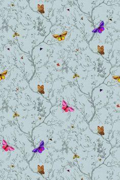 Timorous Beasties butterfly wallpaper