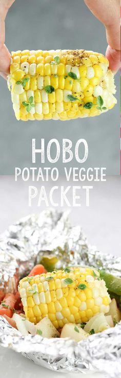 Hobo Potato Veggie Packets | Posted By: DebbieNet.com