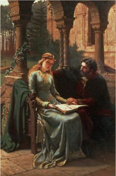 History of Art: Masterpieces of World Literature-Peter Abelard  Edmund Blair Leighton-Abelard and his pupil, Heloise