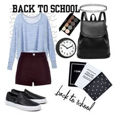 """""""Back to school"""" by sofiavozchikova on Polyvore featuring мода, Victoria's Secret, Vans, River Island, Edward Bess и Topshop"""