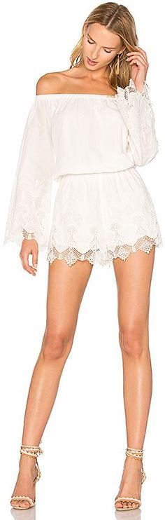 THE JETSET DIARIES Camila Romper in Ivory. - size L (also in M,S,XS) Inspired by the need for luxe bohemian pieces for the modern nomad's wardrobe. The JETSET DIARIES is a contemporary collection influenced by women who capture the free loving spirit of the modern bohemian creating pieces for the quintessential jet-setter wardrobe.