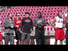 Video + interviews of Football's Spring Camp - Day 1