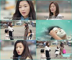 jin joo ask shim cheong where did she done the skin treatment shim cheong told her far away from very very far away - The Legend of the Blue Sea - Ep 7