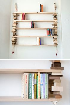 Blockshelf by Norwegian designer Amy Hunting