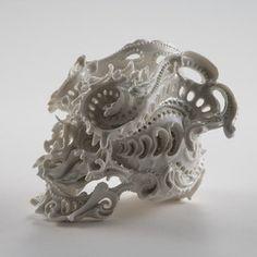 Ceramic Skulls from Japanese artist KATSUYO AOKI